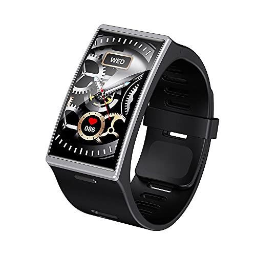 LEMFO DM12 IP68 - Reloj inteligente para hombre 2021 de 1,9 pulgadas, pantalla de 170 x 320, resistente al agua, para Android y iOS (plateado)