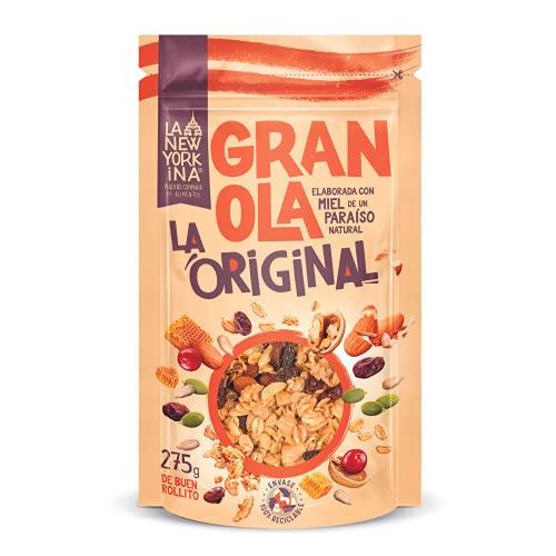 Granola Original 275 Gramos - Horneada con Aceite de Oliva Virgen Extra y Miel de Asturias - Productos Naturales - Alto Contenido Omega 3 - Proceso 100% Artesano - Envase Reciclable - La Newyorkina