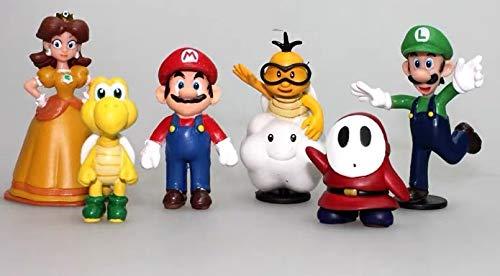 6 Pcs Super Mario Figures Set Children's Toy-Cake Topper Decoration Supplies