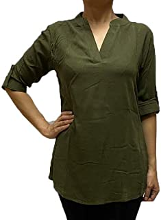 Veronica Long Sleeve Ladies Blouse Moss green