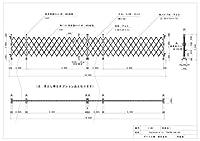ゲート工業 アルミゲート 高さ1.5m 間口14.4m 両開き 15AYW-144-36