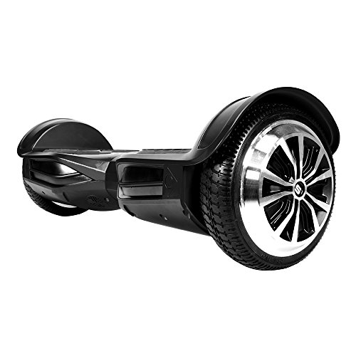Swagtron T380 1 Hoverboard - Bluetooth Speaker & Lights, Personalize Experience w/Android/iOS App (Black)
