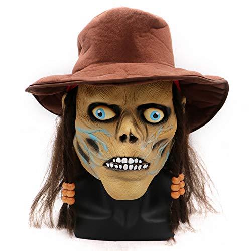 XIN1993 Halloween Grimace Horror Zombie Mask/Thriller Latex Headgear/Adultos Niños Máscara Anónima para Accesorios De Cara