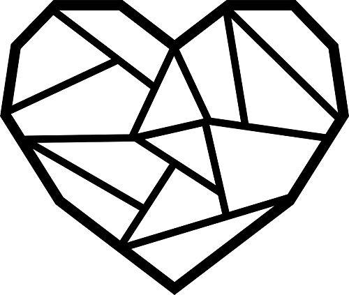 Hansmeier® Wanddeko aus Metall | 39 x 33 cm | Wasserfest | Für Außen, Innen, Balkon & Garten | Metalldeko | Deko Industrial | Motiv Herz