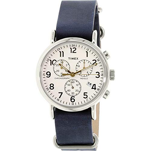 Timex Unisex Analog Quarz Uhr mit Leder Armband TW2P621009J