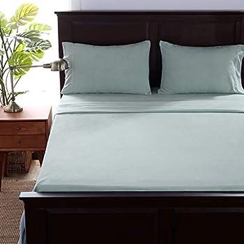Berkshire Blanket Microfleece Sheet Set   Super Soft Cozy Fleece Sheets   All-Season Warmth   Spa Blue   Twinxl  66  x 94