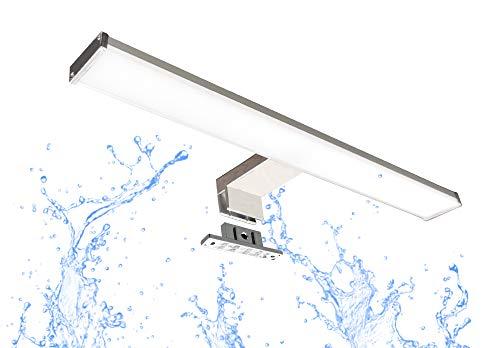 Trango Modern XXL IP44 LED Spiegelleuchte Produktlänge: 830 mm TG2245 Badleuchte, Schminklicht, Badezimmer Schrankleuchte, Aufbauleuchte, Spiegelschrank Beleuchtung 3000K warmweiß