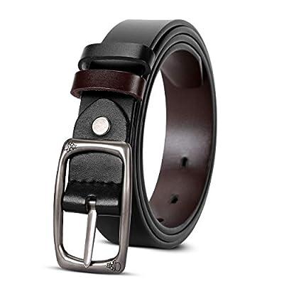 Fashion Reversible Belts for Women,SUOSDEY Women Belt for Jeans Dress Pants with Elegant Buckle 1.1Inch Wide