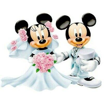 Pintura Diamante 5D Minnie y Mickey Mouse Kits de bordado de boda...