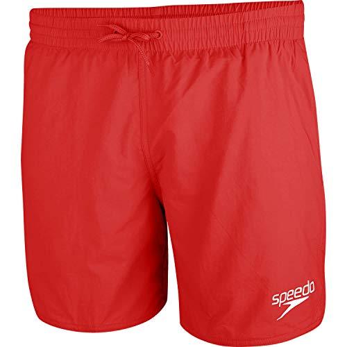 Speedo, Essential 16' - Costume da Bagno Uomo, Pantaloncino, Costume da Nuoto, Colore Rosso, Taglia M
