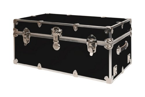 SecureOnCampus College Dorm Storage Trunks/Footlockers Small - Black