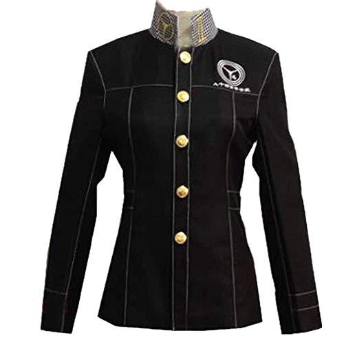 Persona 4 P4 Cosplay School Boy Uniform Costume Yu Narukami Jacket Coat (Female S) Purple