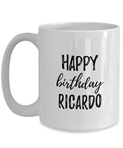 Happy Birthday Ricardo Mug Funny Gift Idea For Anniversary Custom Name Coffee Tea Cup Large 15 Oz
