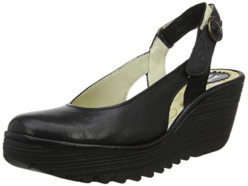 Fly London Damen Ylux979fly Slingback Pumps, Schwarz (Black 006), 38 EU