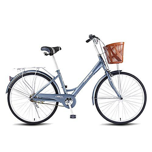 HUAQINEI City Bicycle 24 Inch Alloy Aluminum Alloy Frame Adult Bicycle