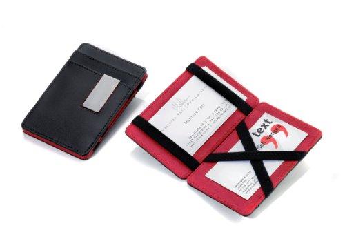 TROIKA ORIGINAL Estuche para las tarjetas de crédito y de visita con mecanismo de apertura «mágico». Para un aspecto distintivo. Para un almacenamiento práctico de las tarjetas de visita, tarjetas de crédito, tarjetas de socio o compras, permiso de c...