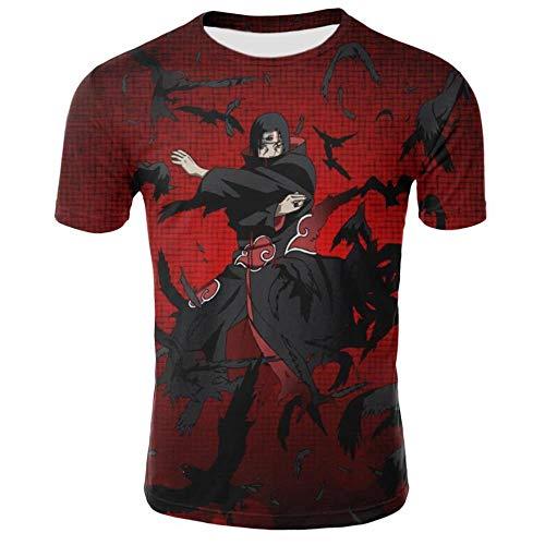 Douzxc Anime Heren T-Shirts Sport T-Shirts Naruto Mustela Bedrukt T-Shirt Plus Maat Sport-T-Shirt