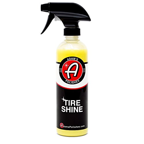 Adam's Tire Shine 16oz - Achieve A Premium, Lustrous, Dark, Long Lasting Shine - Apply with A Spray to Our Pro Tire Hex Applicator for A Non-Greasy, No Sling Formulation Dressing