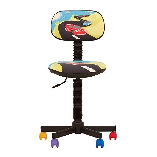 BAMBO- Chaise DE Bureau Enfant Ergonomique, Hauteur du SIÈGE 42 cm-56 cm. Hauteur Dossier RÉGLABLE/PIVOTANT A 360°/ roulettes Multicolores. Prix Discount. (Turbo/Multicolore)