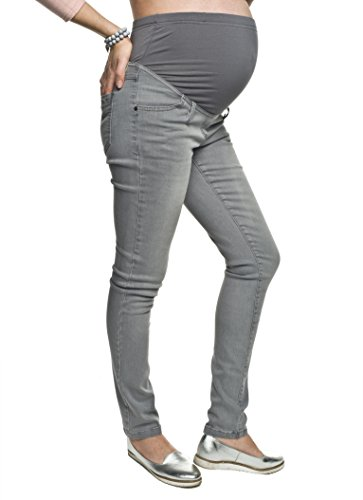 Torelle Schwangerschaftsjeans aus Baumwolle, Umstandshose, Modell: TREZO, grau, L