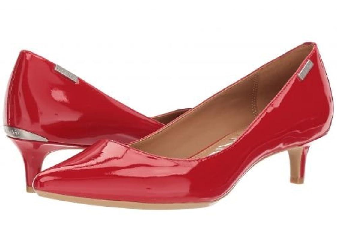 夕方彼らはそうでなければCalvin Klein(カルバンクライン) レディース 女性用 シューズ 靴 ヒール アンクル Gabrianna - Lipstick Red [並行輸入品]