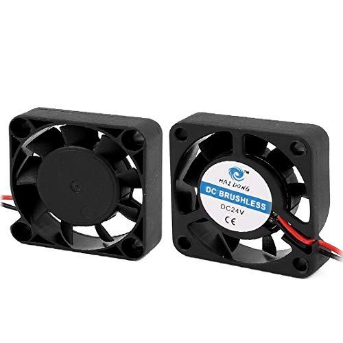 New Lon0167 2Pcs DC Destacados 24V 0.06A Coolless eficacia confiable Cooler Cooling Extractor Fan 24V 40x40x10mm para PC(id:bda 85 87 03c)