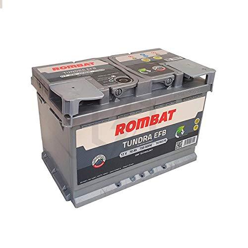Rombat - Batería para Coche Tundra EFB TEFB370 12V 70Ah 750A