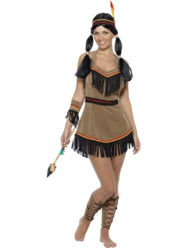 Smiffy 31882S, Disfraz de india para mujer, talla S
