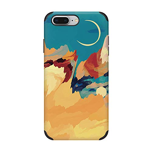 CUSTYPE iPhone 7 Plus Case iPhone 8 Plus Case for Women Girls, Print Stary Sky Watercolor Pattern Case Soft Slim TPU Protective Phone Case for iPhone 7 Plus/8 Plus 5.5 inch Moon