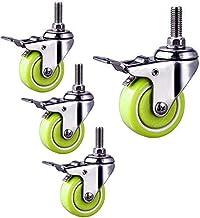 Zwenkwielen wielen 40 / 50mm Zwenkwielen Wielen met rem voor meubels |Zwaar uitgevoerde industriële M10-zwenkwielen met s...