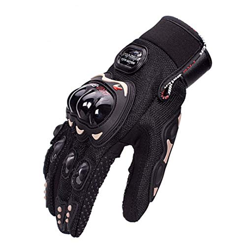 Moto Motorcross Full Finger Hombre Mujer Motocicleta Bicicleta Ciclismo Guante Impermeable Black XL