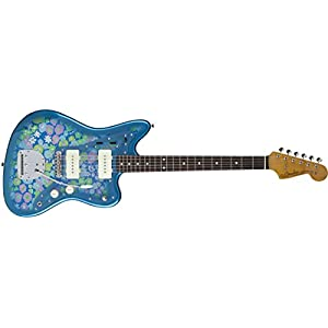 Fender Limited Edition Made in Japan Traditional '60s Jazzmaster Electric Guitar (Blue Flower)