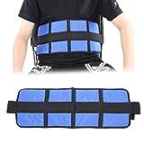 Brrnoo Cinturón de Silla de Ruedas y sillón, Correa de Hebilla Ajustable para Silla de Ruedas Cinturón de Cintura Correa Estable del Asiento(Blue)