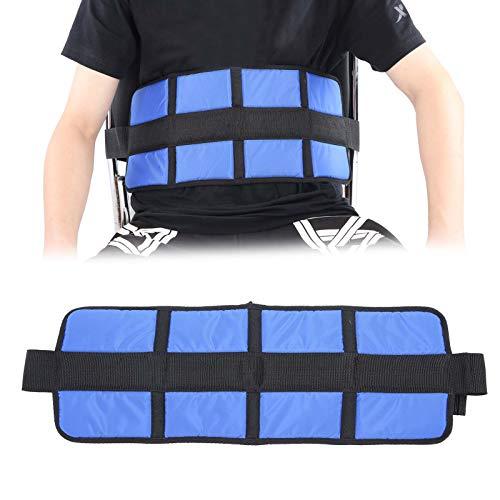 Brrnoo Rollstuhl- und Sesselgurt, Rollstuhlverstellbarer Schnallenriemen Taillengurt Sitz Stabiler Gurt(Blau)