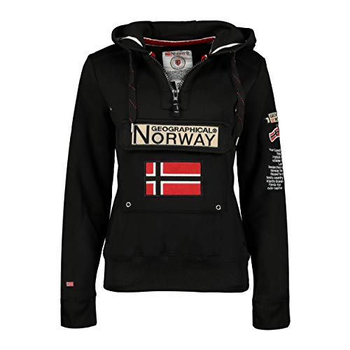 Geographical Norway Sudadera DE Mujer GYMCLASS Negro XL