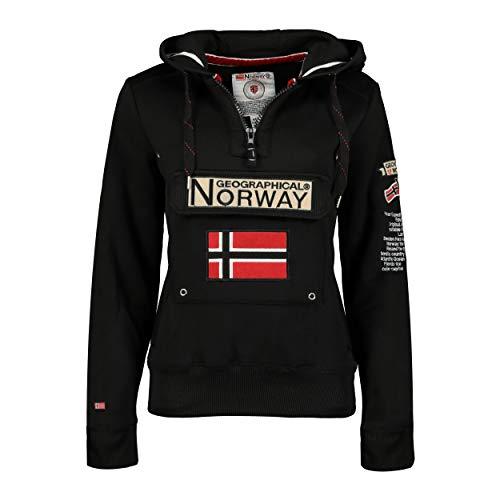 Geographical Norway Sudadera DE Mujer GYMCLASS Negro S