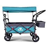 TMZ All Terrain Utility Folding Wagon, Collapsible Garden Cart, Heavy Duty Beach Wagon, for Shopping and Outdoor Activities