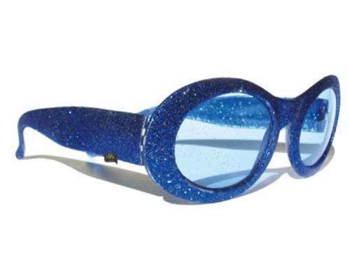 Deguisement-discount - Lunettes disco paillettes bleues
