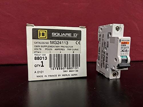 labtechsales Square D Merlin Gerin MG24113 C60N Supplementary Protector Nib NOS