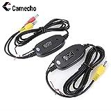 Camecho ワイヤレスキット 2.4Gワイヤレストランスミッター レシーバ バックカメラ/トラック/モニター対応