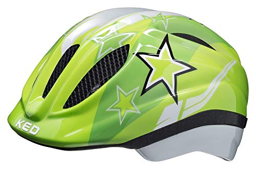 KED Meggy Helm Kinder Green Stars Kopfumfang S/M | 49-55cm 2020 Fahrradhelm