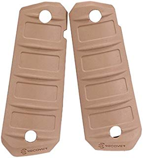 Recover Tactical RG15T RG15 Quick Change Rubber Grips, 1911, Phantom Tan