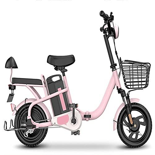 wdd Scooter de Movilidad al Aire Libre de 14 Pulgadas con cerraduras antirrobo cuádruple, Bicicleta eléctrica de 350 vatios para Adultos con batería LI removible, Pantalla LED, 150 kg de Carga máxima