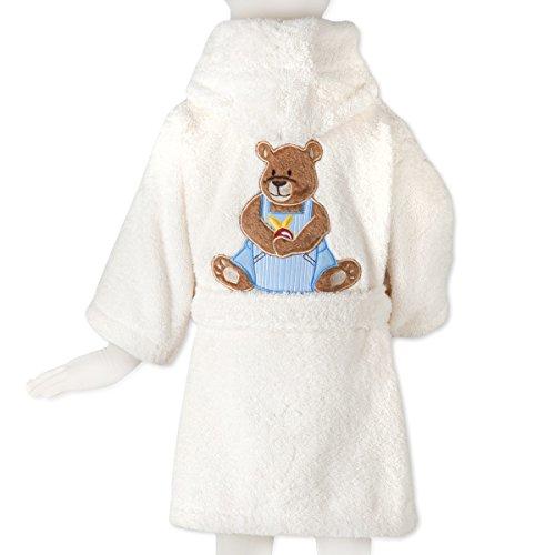 Tradition des Vosges Peignoir Ourson Boy Eponge Coton 500g Enfant 6 Ans Beige Ecru