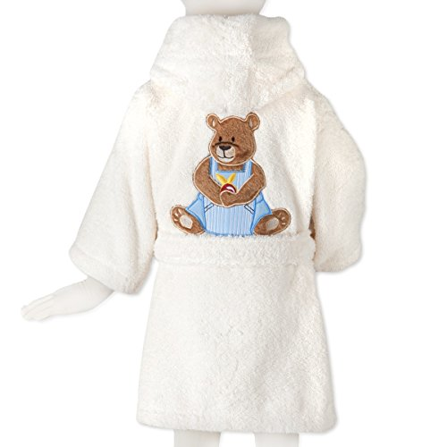 Tradition des Vosges Soldes Peignoir Ourson Boy Eponge Coton 500g Enfant 6 Ans Beige Ecru