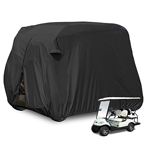 moveland Golf Cart Cover Outdoor Accessories|Waterproof Dust, Extra PVC Coating Custom Cart Cover for EZ GO, Club Car, Yamaha