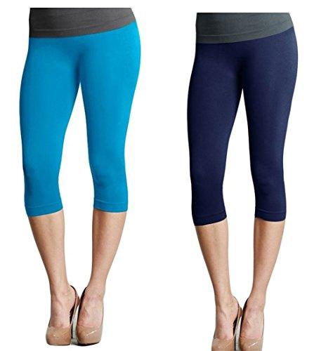 NIKIBIKI Women Seamless 3/4 Crop Capri Leggings,...