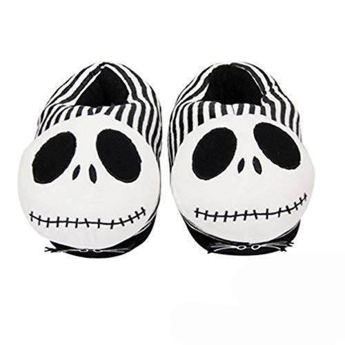 Zapatillas Zapatillas de Felpa de Invierno de Dibujos Animados Halloween La Pesadilla Antes de Navidad Zapatos de algodón