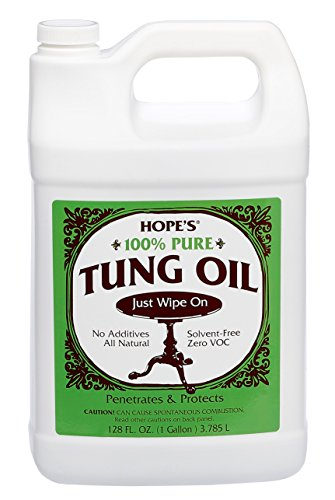 Hope Home Office 100% Tung Oil Sealer and Finisher for Fine Wood Furniture Floors 128 Oz