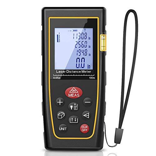 XASY laserafstandsmeter Advanced afstandsmeter, meetbereik 0,05~100m/±2mm voor interieur, oppervlaktemeting, volume, objecten, zelfkalibratie mute-functie 100 m